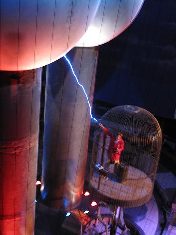 Boston Museum of Science Van de Graaff generator