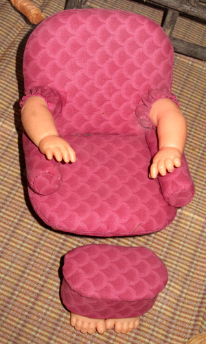 scary chair from a collection of doll's chairs