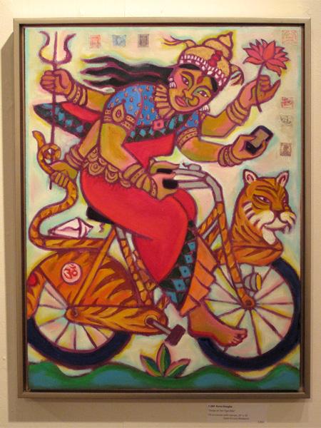 Durga on Her Tiger Bike