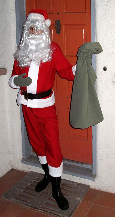 Santa costume for Halloween