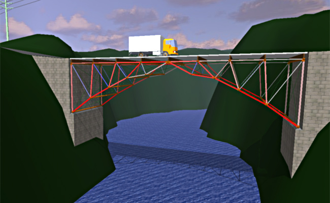 simulation of truss bridge Award abstract #1448353 rapid: data collection of internal forces during dismantling of a steel bridge.