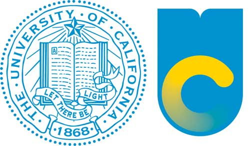 Old and new UC logos, copied from the San Jose Mercury News.
