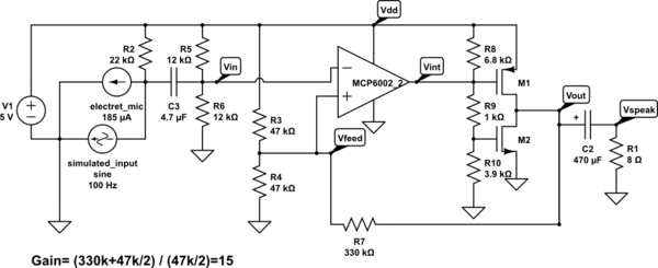 Design for a power amp that sort of works—as long as you don't increase the power supply voltage!