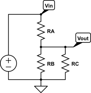 Circuit for third version of  design to get specified output voltage.
