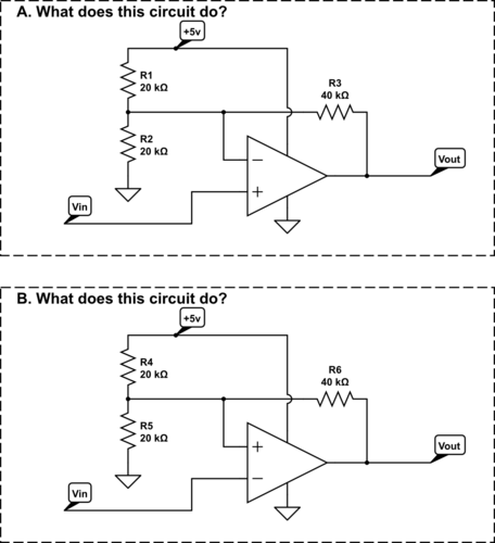 The first circuit should have been easy for the students, but the second one was brand new to them.