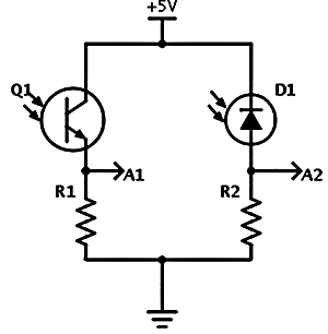 Simple circuits for measuring light with an Arduino.