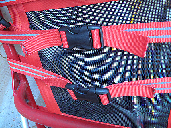 The heavy-duty dual-adjustable buckles seem to work well.  By keeping the straps fairly short, I did not need to use the triglides or keepers to hold the ends of the straps in place—they aren't long enough to be a nuisance.