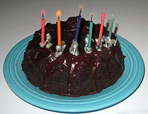 Six candles are enough for 0–63 years.
