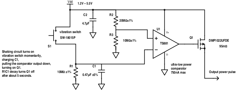 "Without the need for ""wake"" functionality, the extra OR-stage of bipolar transistors can be eliminated, if the inputs of the comparator are swapped."