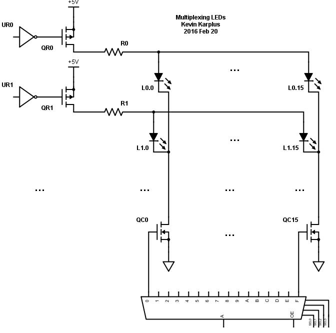 LED-multiplexer