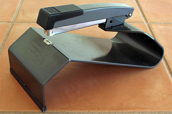 A saddle stapler, or booklet stapler, is an indispensable aid to producing neatly stapled booklets quickly.